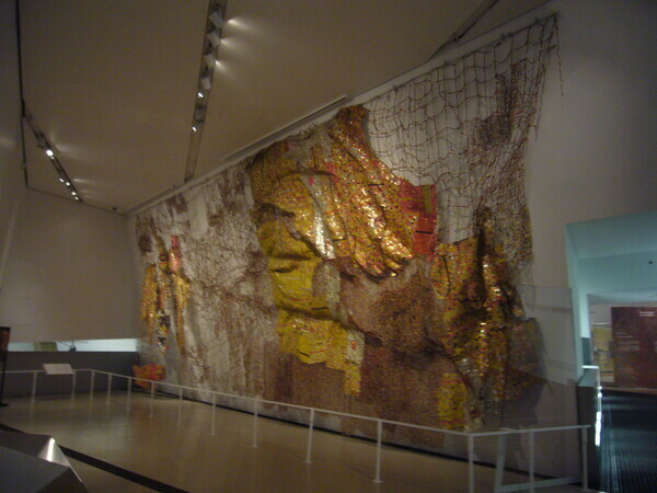 El Anatsui at Royal Ontario Museum