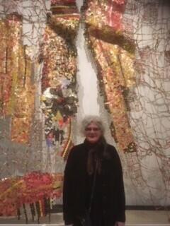 joanna rogers with el anatsui rom